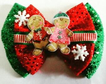 Christmas bow/christmas baby bow/headband bow/baby bow