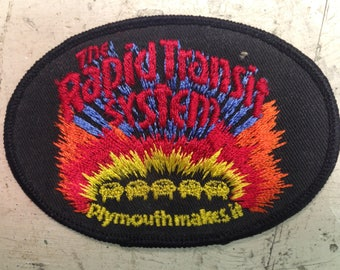 Rapid Transit Vintage Iron-on/Sew-on Patch