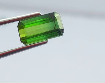 WOW 1.25 Carat Green Color Loose tourmaline gemstone from@ Afghanistan 10*6*5mm (4)