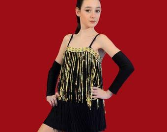black and gold charleston dance costume