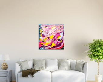 Colorful Canvas Art, Square Painting, Colorful Painting, Abstract Painting, Abstract Canvas Art, Multicolor Abstract Painting, Abstract Art