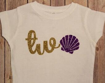 Two Birthday Shirt, @nd Birthday Shirt, Mermaid 2nd birthday shirt, Mermaid Birthday, Mermaid Birthday, Mermaid 2nd Birthday, Mermaid Second