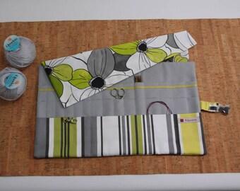 Knitting needle case, circular needle, needle Organizer, crochet caseBig needle holder needle needle bag needle Organizer