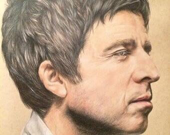 A4 Noel Gallagher print, oasis print, britpop, limited addition