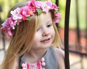 Cherry blossom crown / flower crown / cherry blossom flower crown / flower girl