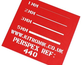 Red Perspex Sheet (Opaque) 3mm x 297mm x 210mm High Gloss Perspex Sheet A4