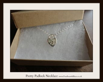 Pretty Padlock Necklace