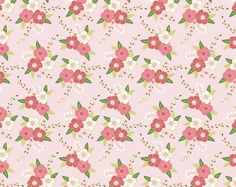 Pink Flowers by Riley Blake,  Pink Flower Fabric