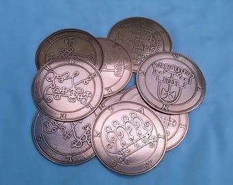 ALL 72 Handmade Goetia Seal Symbol Talisman  Demons Evoked By King Solomom FREE SHIPPING