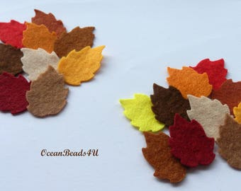 Autumn Felt Leaves F (2 sizes), Felt leaves, felt shapes, appliques, Autumn leaves, filz blätter