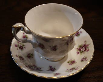 "Royal Albert ""Sweet Violets"" Teacup and Saucer"