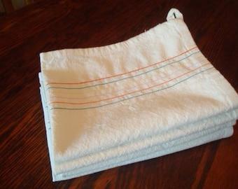 Embellished Flour Sack Dish Towel