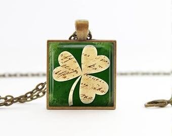 Shamrock Pendant Necklace St Patricks Day Gift Irish Jewelry Irish Gift St Patrick's Day necklace St Patricks Day jewelry Shamrock Keychain