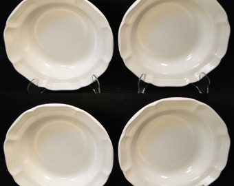 "FOUR Mikasa French Countryside Soup Bowls 8 1/2"" White Salad F9000 Set of 4 EXCELLENT!"