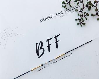 BFF Morse Code Bracelet / BFF Bracelet / MORSE Code Jewelry / Friendship Bracelet / Stackable Bracelets
