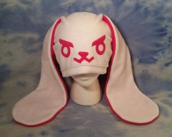 DVA Bunny Hat Overwatch D.VA Fleece Cosplay