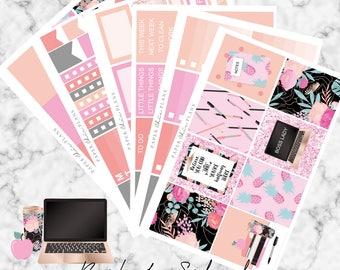 SALE Back To School/Boss Lady | Planner Stickers MATTE | Erin Condren Vertical Weekly Planner Kit