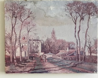 Vintage French water color painting