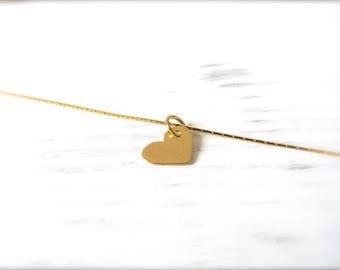 Heart | delicate necklace | Gold