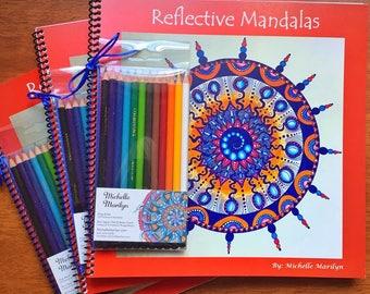 Reflective Mandalas Coloring Book