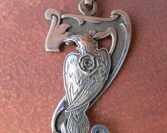"SEVEN RAVEN PENDANT by Kit Carson, Signed & Stamped ""Sterling"""