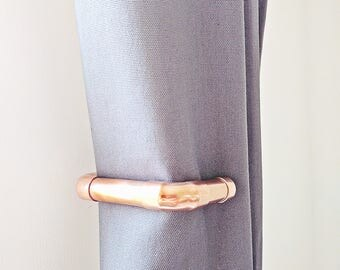 Modern Copper Curtain Tie Backs   Industrial   Modern Curtain Tie Backs   Steam Punk   Curtain Tie Backs   Curtain Ties