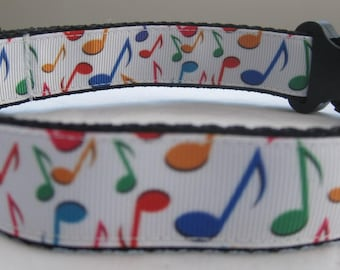 Musical mote Dog collar matching lead available music