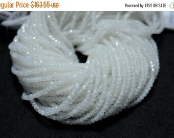 50% DISCOUNT 10 Strands,White Moonstone Beads, Moonstone Gem Stone, 3 mm Beads, Faceted Rondelle, Gemstone Beads, 13.5 Inch