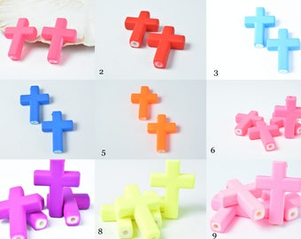 Matte Rubberized Plastic Cross Beads, Plastic Cross Beads,Acrylic Cross Beads,Acrylic Beads,Necklace beads,Rubberized Beads Jewelry