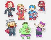 Pajamavenger Vinyl Stickers   Cute Adorable Pajama Avenger Superhero Die-Cut Stickers for Laptop, Guitar, Phone Case