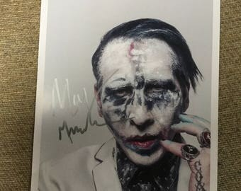 MARILYN MANSON heaven upside down tour signed 8x10 photo concert