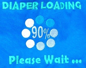 Diaper Loading Please wait fun diaper Limited Edition HapPee Bum Embroidery All-In-One Cloth Diaper