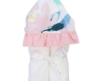 Isla's Fresh Floral | Full Size Toddler Hooded Towel | Blush and Pink | Baby Shower Gift | Girl Shower Gift
