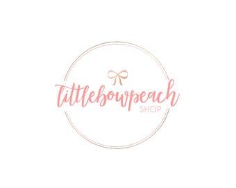 Custom Shop Logo design for LittleBowPeach Shop