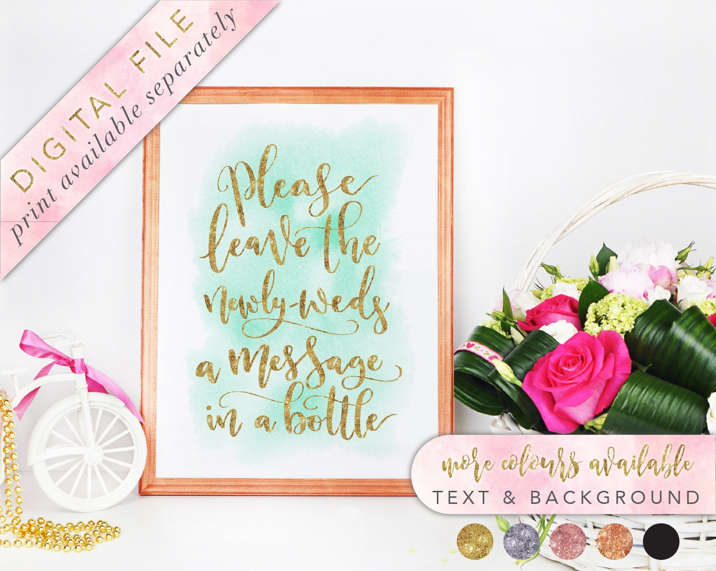 Message in a Bottle, Message in a Bottle Sign, Printable, Message in ...