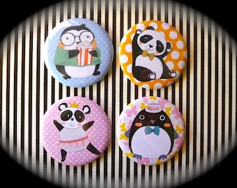 Set of 4 magnets 56 mms 'Animals'