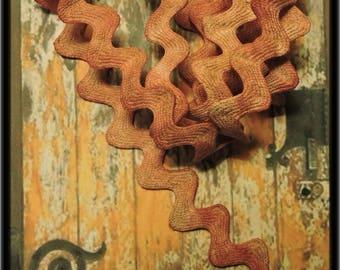 Serpentine coton teinté à la main par mes soins