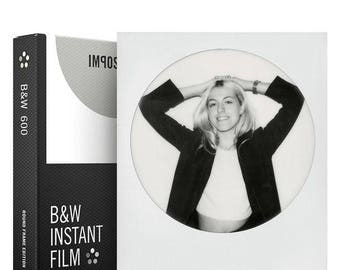 Impossible Project Polaroid 600 Black & White Instant Film - Round Frame Edition