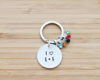 hand stamped rodan and fields keychain | I heart rodan + fields