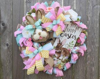 Easter Wreath, Easter Bunny Wreath, Spring Wreath, Easter Decor, Bunny Decor