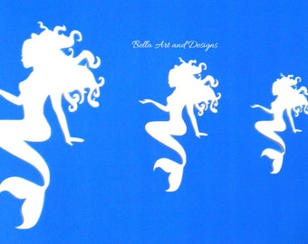 Assorted Mermaid Stencils   *Free gift with every order*