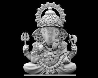 STL File of Dagdusheth Ganesha Idol for 3D Printing