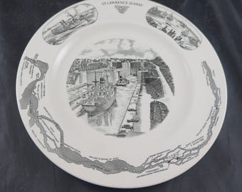 WEDGWOOD Plate for Manchester Lines (shipping) & St. Lawrence Seaway
