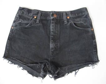 Reworked Vintage Distressed Wrangler Cuff Off Shorts