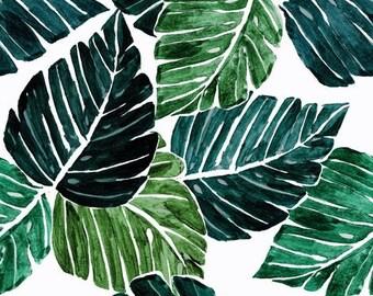Tropical crib sheet, leaves, baby crib sheet, baby bedding, baby girl bedding, baby boy bedding, tropical nursery, leaves, Hawaii bedding