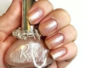 Moonstone & Rose Quartz Polish - Goddess Energy - Unique Nail Polish Crystal Infused - Heart Chakra - Crystal Energy