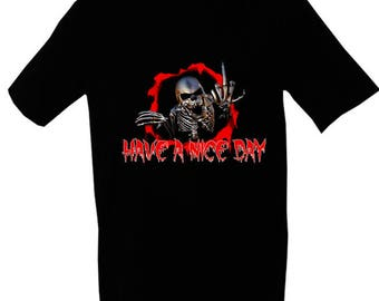 Scary Monster 2 T-shirt - Have a nice day - Middle finger