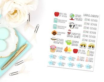 School Calendar Year Planner Stickers