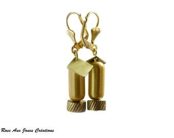 Magical Pearl Earrings tube color gold