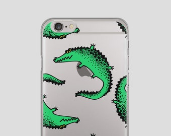 CROCODILE iPhone 7 Case Clear iPhone 7 Case iPhone 7 Clear Case iPhone 7 Clear Case With Design iPhone 7 Case Clear Protective Transparent